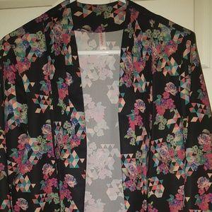 Xhilaration Floral Open Front Blazer